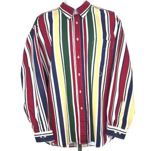 Vintage Tommy Hilfiger Vertical Striped Button Up.